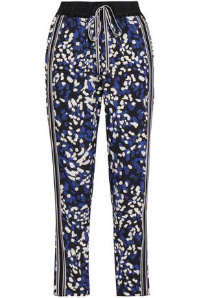 3.1 PHILLIP LIM Printed silk crepe de chine tapered pants
