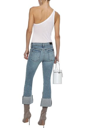RTA Duchess distressed mid-rise kick-flare jeans