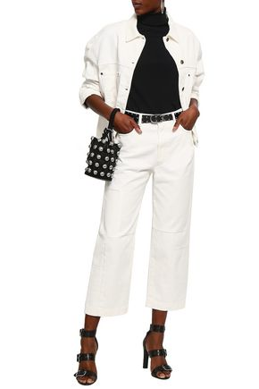 McQ Alexander McQueen Cropped paneled high-rise straight-leg jeans
