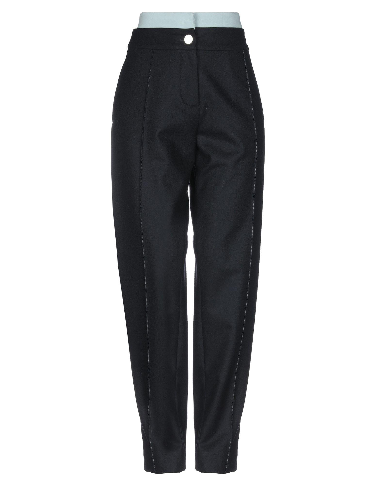 《期間限定セール中》LA PRESTIC OUISTON レディース パンツ ブラック 1 ウール 100% / アセテート / ナイロン / ポリウレタン