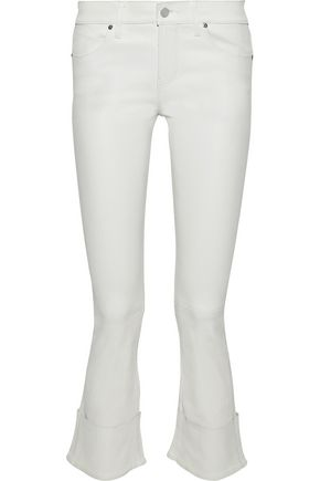 RTA Leather kick-flare pants