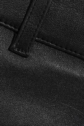 DEREK LAM 10 CROSBY レザー ブーツカット パンツ