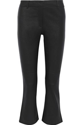 DEREK LAM 10 CROSBY Cropped leather bootcut pants