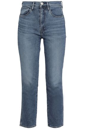 3x1 Cropped faded high-rise slim-leg jeans