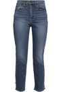 3x1 Distressed high-rise slim-leg jeans