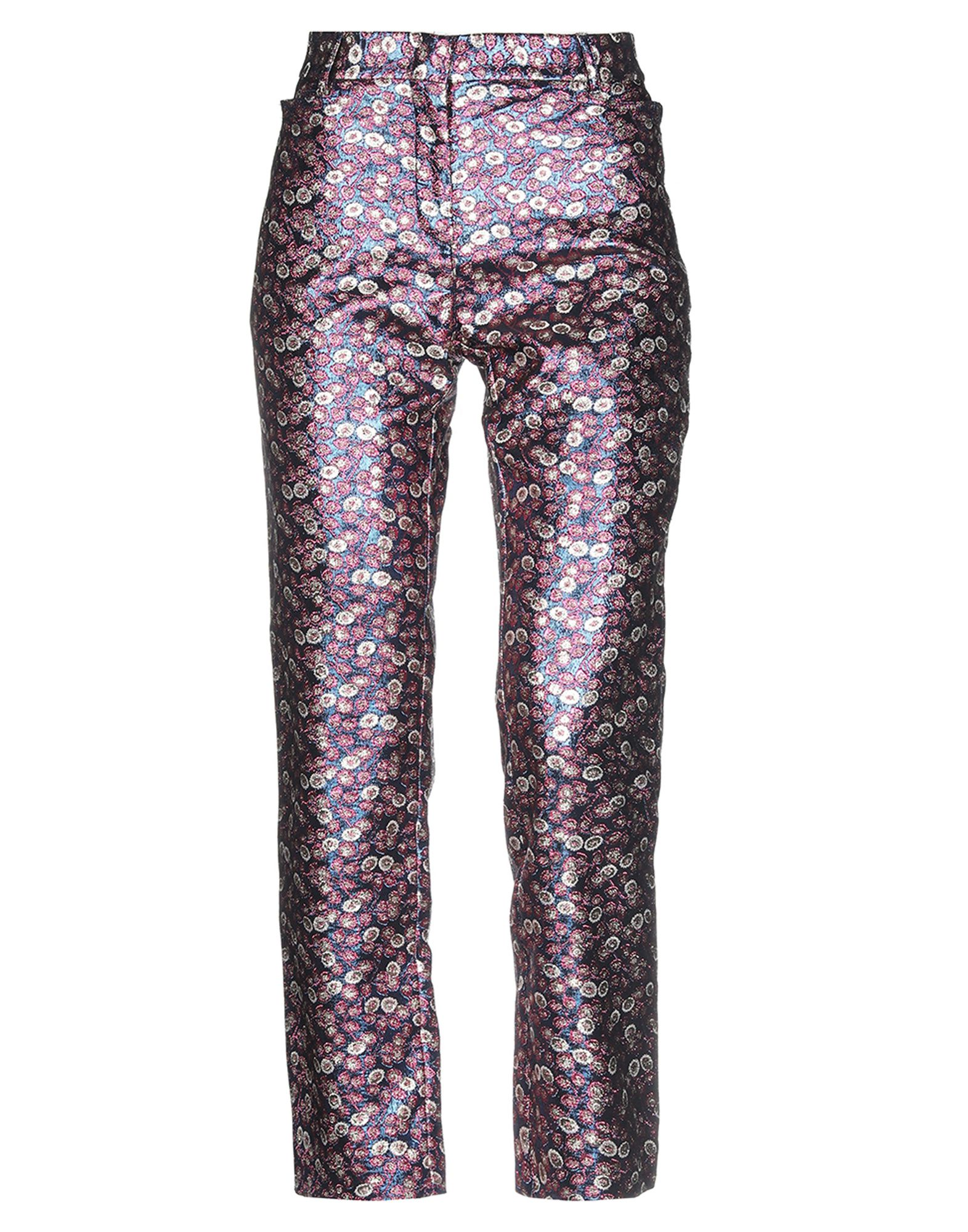 PHILOSOPHY di LORENZO SERAFINI Casual pants. brocade, no appliqués, floral design, high waisted, regular fit, straight leg, hook-and-bar, zip, multipockets. 100% Polyester