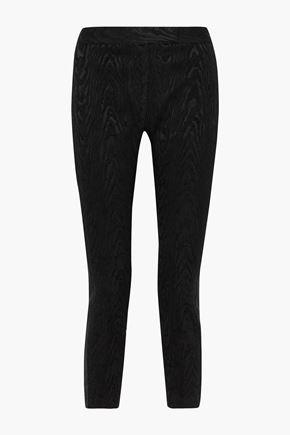 RACHEL ZOE Alyza cropped moire slim-leg pants