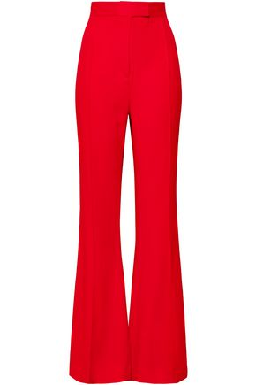 KHAITE Satin-crepe flared pants