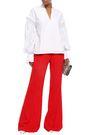 KHAITE Satin-crepe flared pants