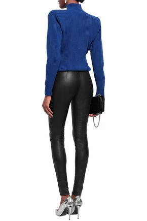 MUGLER Studded leather skinny pants