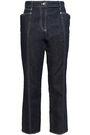 MUGLER Cropped high-rise bootcut jeans