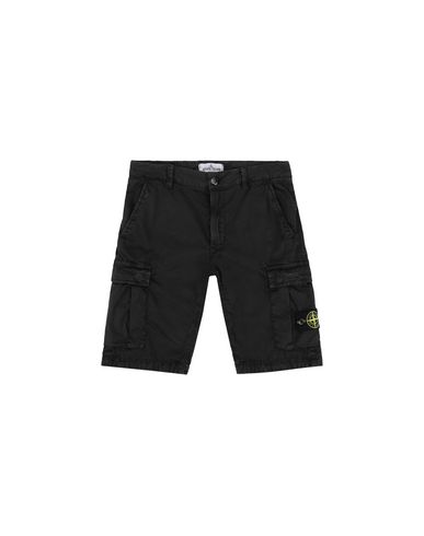 STONE ISLAND JUNIOR Bermuda shorts Man L0909 'OLD' DYE TREATMENT  f