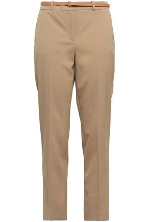 MICHAEL KORS | Michael Kors Collection Wool-Blend Twill Tapered Pants | Goxip