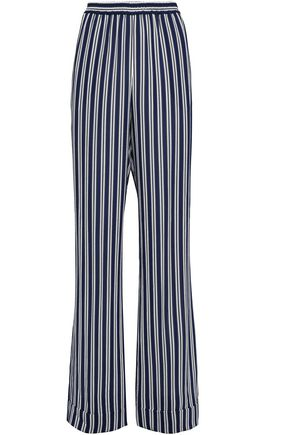 MICHAEL KORS COLLECTION Striped crepe wide-leg pants