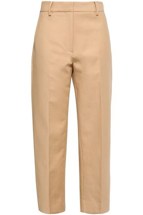 KHAITE Cotton-twill straight-leg pants