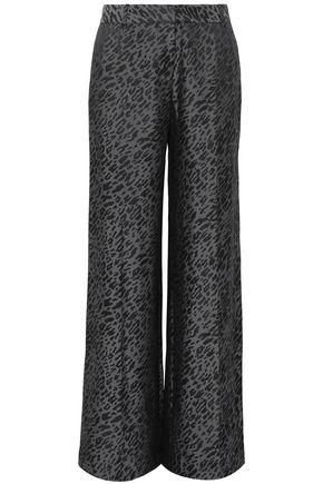 EQUIPMENT Arwen silk-blend jacquard wide-leg pants