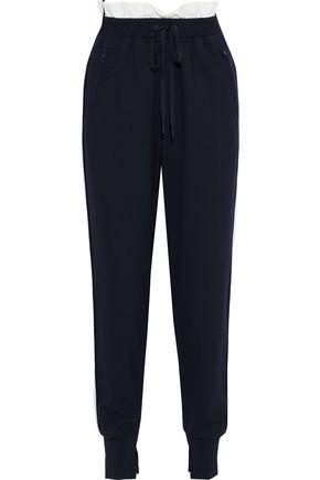 3.1 PHILLIP LIM Shell-trimmed wool-blend track pants