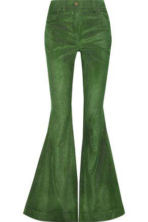 ROSIE ASSOULIN Cotton-blend corduroy flared pants