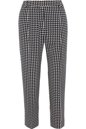 MAX MARA Lotus checked crepe tapered pants