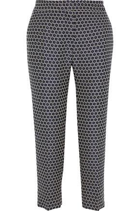 WEEKEND MAX MARA Ombrosa cropped metallic jacquard slim-leg pants
