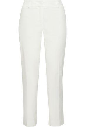 MAX MARA Sole cropped stretch-cotton twill slim-leg pants