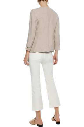 WEEKEND MAX MARA Romania cropped mid-rise bootcut jeans