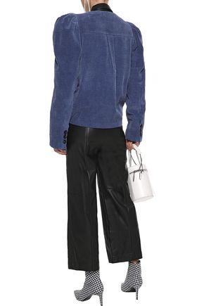 GOEN.J Cropped faux leather wide-leg pants