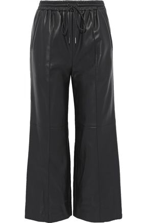 GOEN.J Cropped faux leather wide-leg pants