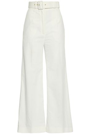 EMILIA WICKSTEAD Jana belted cotton-corduroy wide-leg pants