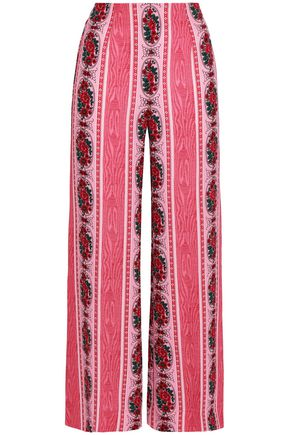EMILIA WICKSTEAD Printed crepe wide-leg pants