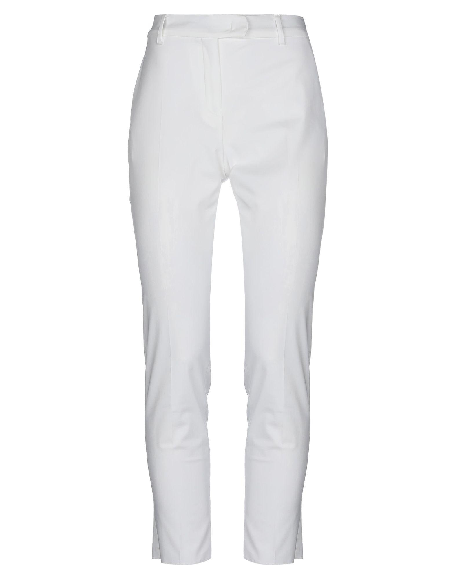 《セール開催中》MAX MARA レディース パンツ ホワイト 44 コットン 95% / ポリウレタン 5%