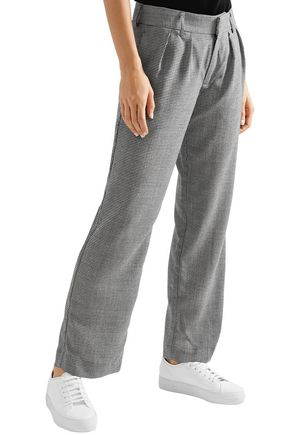 MAGGIE MARILYN Bobbi houndstooth wool-blend straight-leg pants