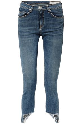 RAG & BONE The Capri distressed low-rise skinny jeans