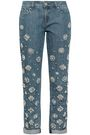 MICHAEL MICHAEL KORS Embellished mid-rise tapered jeans