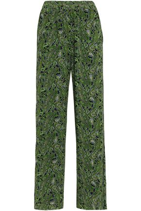 MICHAEL MICHAEL KORS Printed georgette wide-leg pants