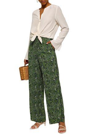 MICHAEL MICHAEL KORS Printed georgette wide-leg pants