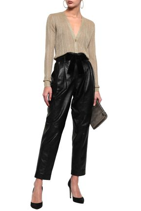 MICHAEL MICHAEL KORS Belted leather tapered pants
