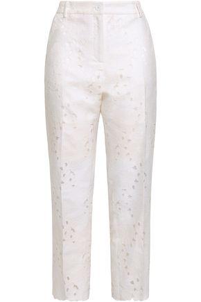 a9144f5973a6f MICHAEL MICHAEL KORS Fil coupé cotton-blend straight-leg pants