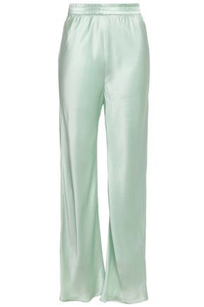 MICHAEL LO SORDO Silk-satin flared pants