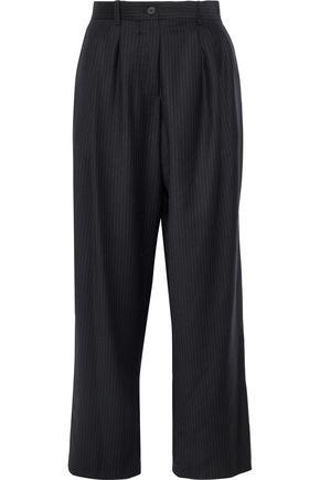 CHALAYAN Pinstriped twill straight-leg pants