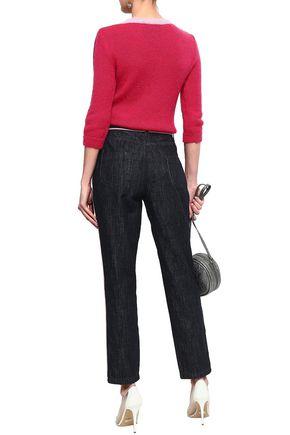 MOSCHINO High-rise slim-leg jeans