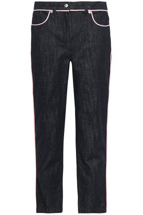 MOSCHINO High-rise slim-leg jeans