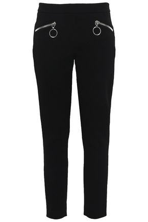 MOSCHINO Wool-blend slim-leg pants