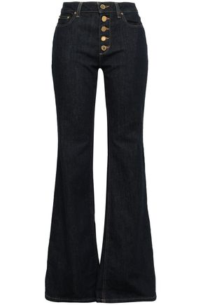 MICHAEL MICHAEL KORS Button-detailed high-rise flared jeans