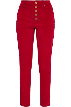 MICHAEL MICHAEL KORS Cotton-blend corduroy slim-leg pants