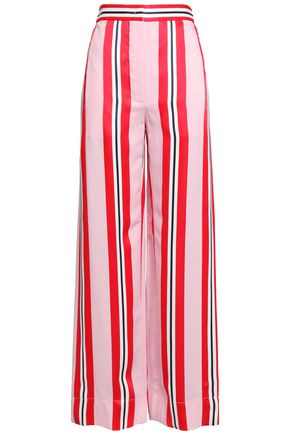 CEDRIC CHARLIER Striped twill wide-leg pants