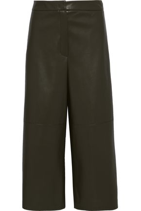 GOEN.J Faux leather culottes