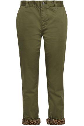 CURRENT/ELLIOTT The Confidant cropped stretch-cotton slim-leg pants