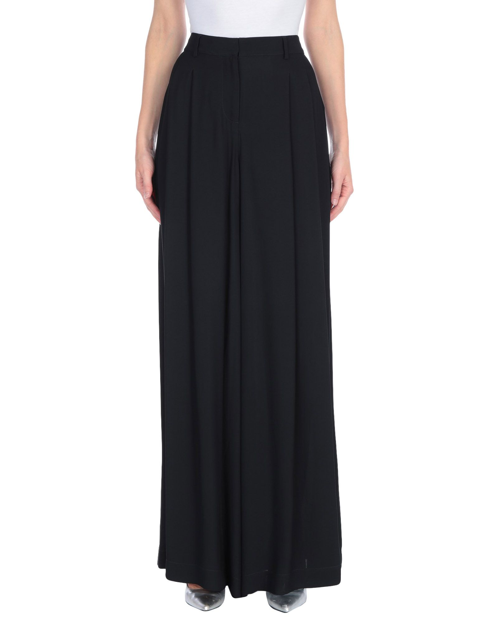 OFF-WHITE™ Long skirts. crepe, folds, basic solid color, high waisted, no pockets, unlined. 100% Viscose
