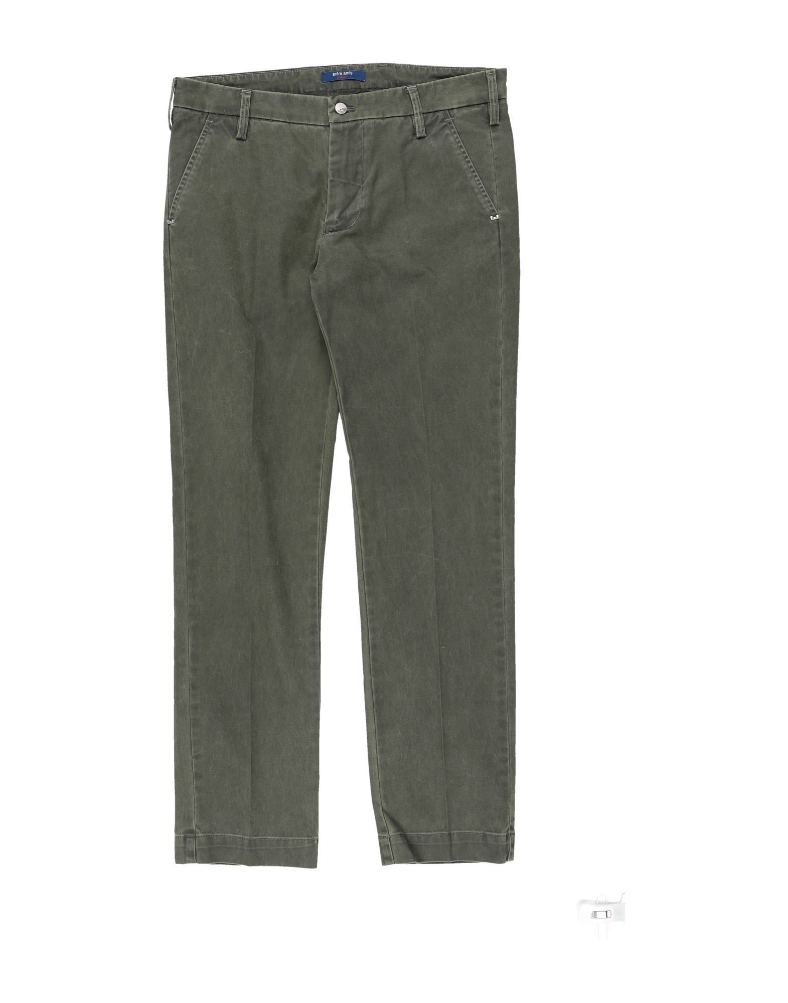 Entre Amis Garçon Kids' Casual Pants In Military Green